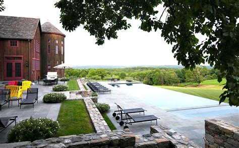 landscape architects ct this stunning modern barn house comes complete with an apple orchard and infinity pool 6sqft