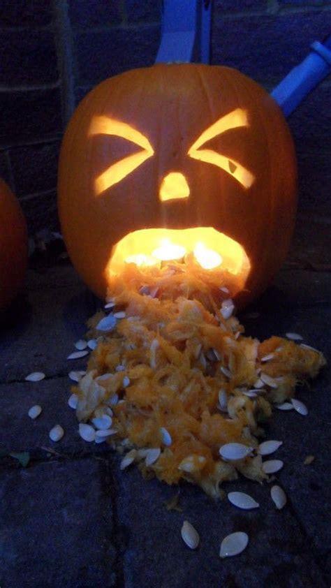 puking pumpkin   decorate  pumpkin food