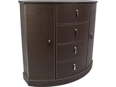 cuisine style usine petit meuble d 39 appoint aspect cuir en demi lune meuble