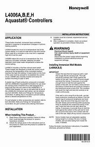 Honeywell L4006e Thermostat User Manual In 2020