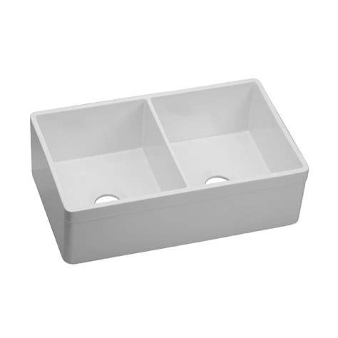 30 apron front sink white sinkology bradstreet reversible farmhouse apron front