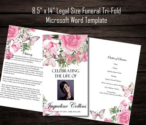 diy printable  tri fold funeral program memorial
