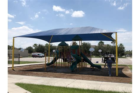 independence elementary pto installs playground shade