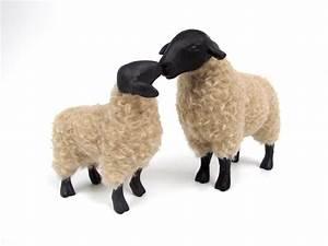 Suffolk Ewe Kissing Lamb