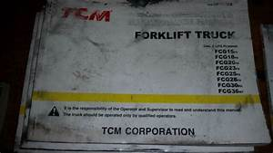 One Tcm Fork Lift Truck Operation  U0026 Maintenance Manual
