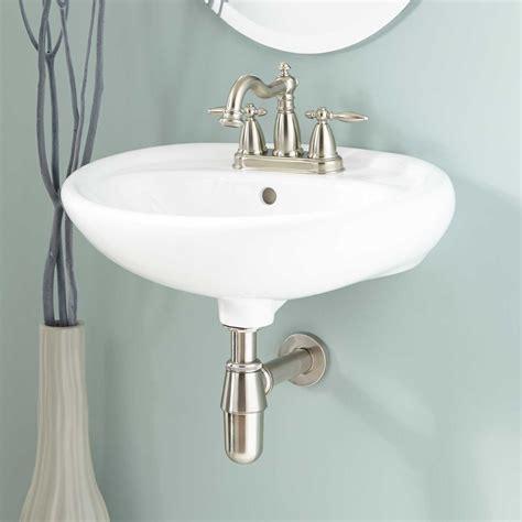 wall mount kitchen sink gretchen porcelain wall mount bathroom sink bathroom