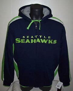 seattle seahawks thick polyfilled full zip hooded winter