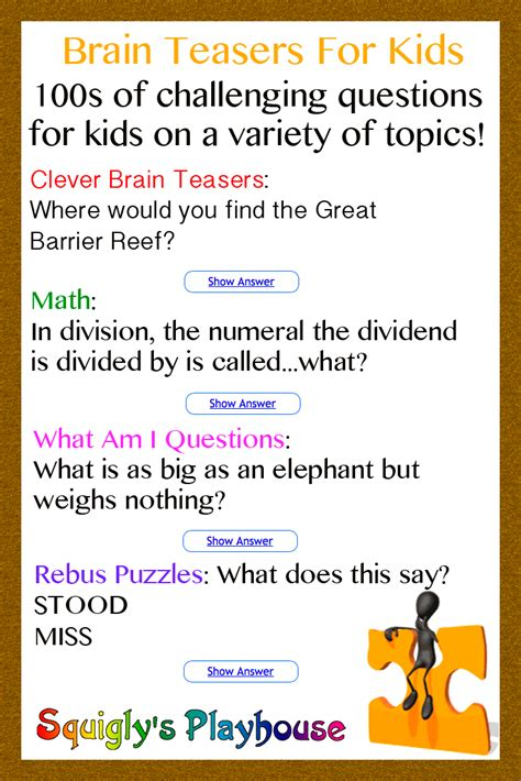 Difficult Halloween Riddles For Adults by Printable Brain Teasers For High Students