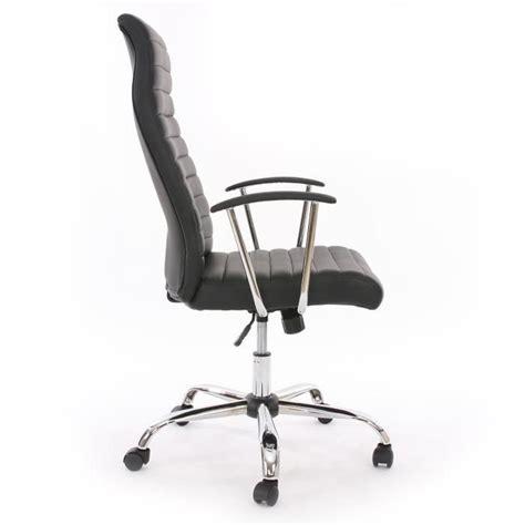 fauteuil chaise de bureau cagliari ergonomique pu blanc