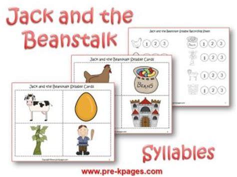 and the beanstalk preschool activities 794 | beanstalk syllables
