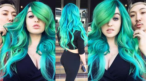 Bluegreen Hair Extensions Hanging With Guy Tang Youtube