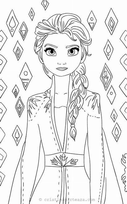 Frozen Coloring Elsa Anna Colorat Sheets Disney