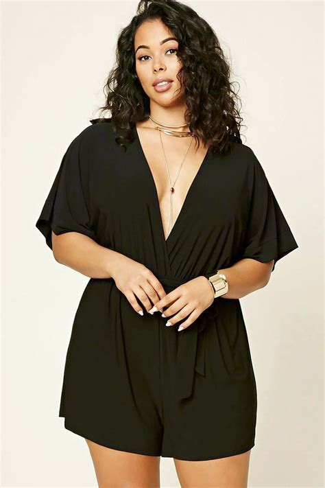 Best 25+ Plus size romper ideas on Pinterest | Plus size beach outfits Black romper outfit and ...