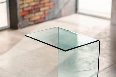 tavolini divano tavolino in vetro curvato lato divano 45 x 35 x 66 cm jorge