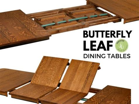 what is a butterfly leaf on a dining room table what are butterfly leaf dining tables countryside amish