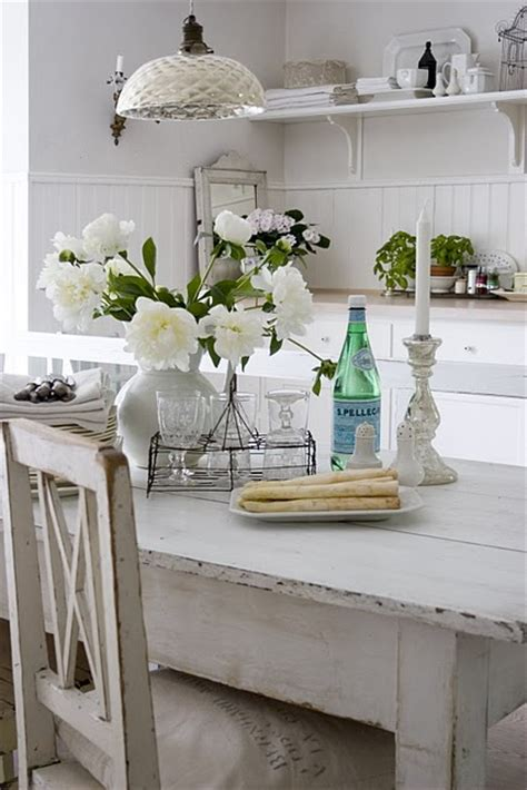 white washed dining table cottage dining room skonahem