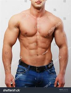 Muscled Chest Stomach Man Stock Photo 189395900