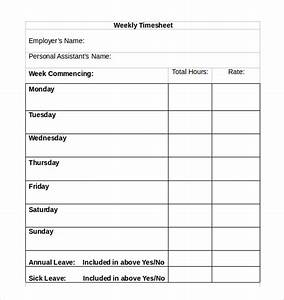32 simple timesheet templates free sample example for Easy timesheet template