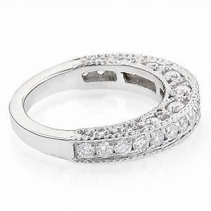 Milgrain Filigree Designer Diamond Wedding Band For Her
