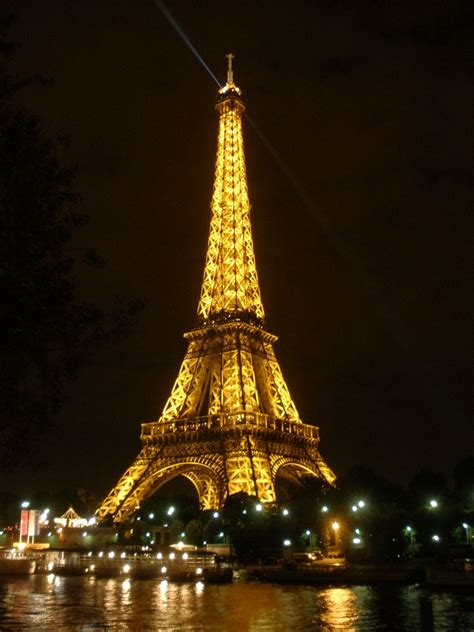 paris paris eiffel tower at night