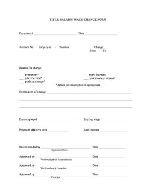 fillable salary increase form  budget bussiness
