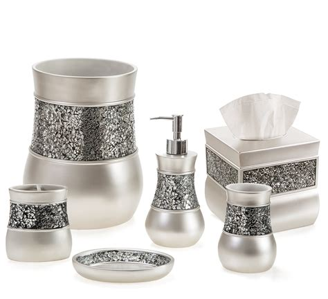 Accessories Set by Galleon Creative Scents Brushed Nickel Bathroom