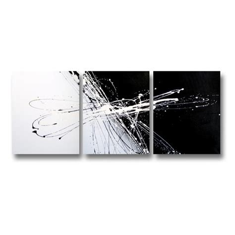 Black And White Canvas Painting Abstract by 3 Abstract Canvas Painting In Black And White