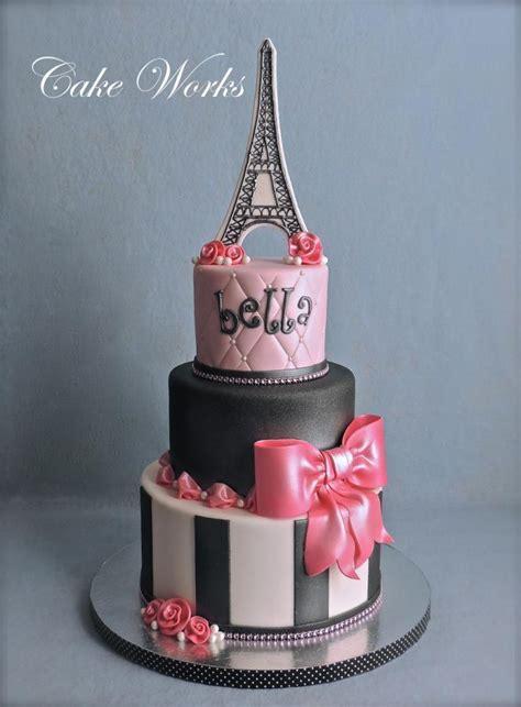 Paris Themed Birthday  Cake By Alisa Seidling Cakesdecor