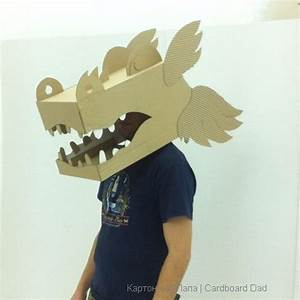 cardboard dragon mask capgrossos santjordi cardboard With cardboard dragon template