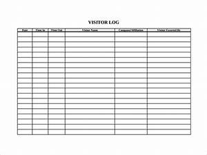 sample visitors log template 9 free documents in pdf word With visitors book template free download