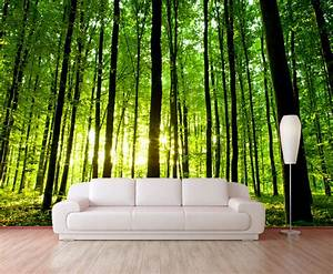 Items similar to Green forest trees mural wallpaper ...