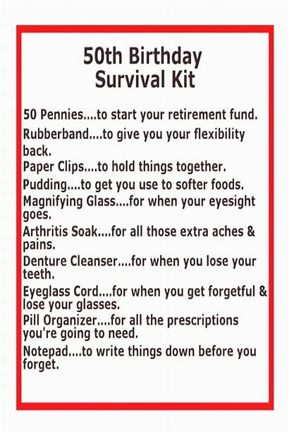 Birthday 50th Survival Gift Quotes Mens Gifts