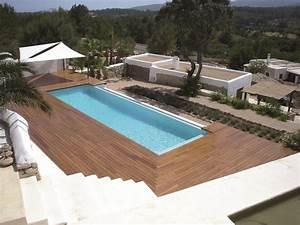 Piscine Avec Terrasse Bois : terrasse de piscine en ip coupe diagonale fayence var 83 ~ Nature-et-papiers.com Idées de Décoration