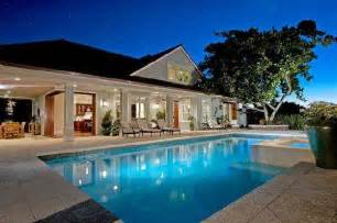 house with pool pool