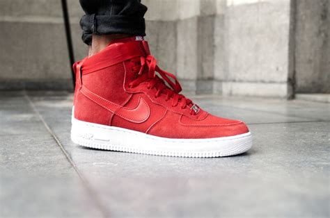 nike air force  high red suede sneakerfiles