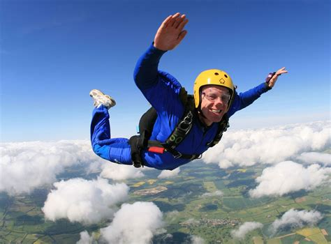 Parachute Dive by Tandem Skydiving Parachute Jumping For Charity Uk