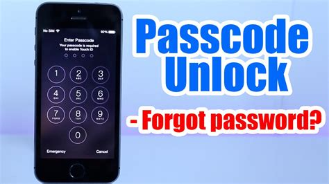 how to unlock an iphone 5c passcode unlock iphone 5 5s 5c 6 6 plus 4s 4
