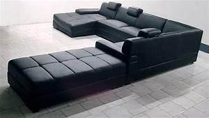Canape Design Et Confortable : canap d 39 angle cuir panoramique canap d 39 angle cuir ~ Teatrodelosmanantiales.com Idées de Décoration