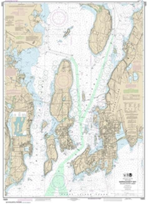 themapstore noaa chart  newport harbor edgewood barrington massachusetts long island