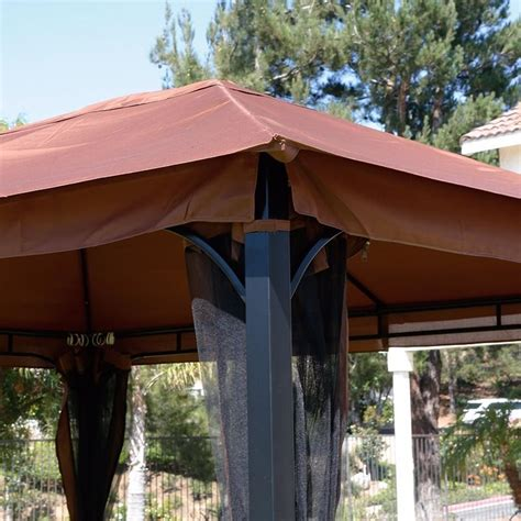 patio gazebo canopy mosquito netting