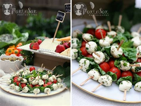 For Caprese Skewers, Toss The Mozzarella In An Herbed Vinaigrette Before Adding On To The Skewer Wedding Dance You And Me Personalised Candy Veil Trends 2019 Bar Ideas Pinterest Sarees New Stationery Spring 2017 2018