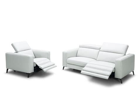 modern leather sectional sofa with recliners divani casa roslyn modern white leather sofa set w