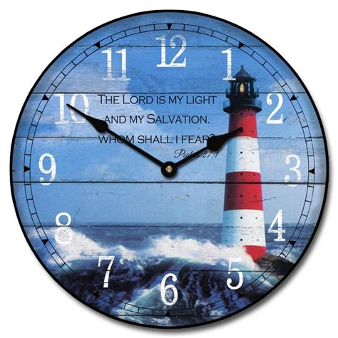 lighthouse wall clock i