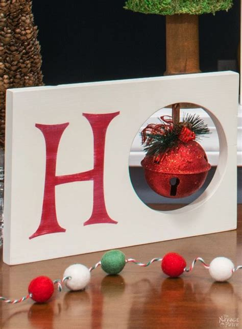 metal front punch ho ho ho dangling ornaments
