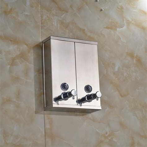 Chrome Stainless Steel Wall Mounted Soap Sanitizer