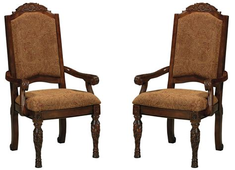 shore upholstered arm chair set of 2 from