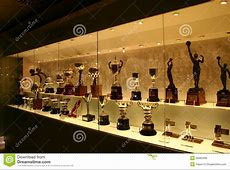 Football Trophies In Real Madrid Exhibition Editorial
