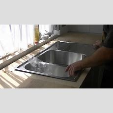 Loch Für Spülbecken Aussägen, Arbeitsplatte,küche Teil 2