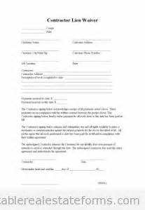 contractor lien waiver printable real estate forms