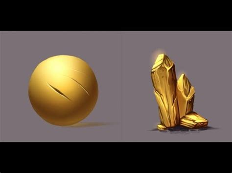 how to paint gold color materials gold paint tool sai